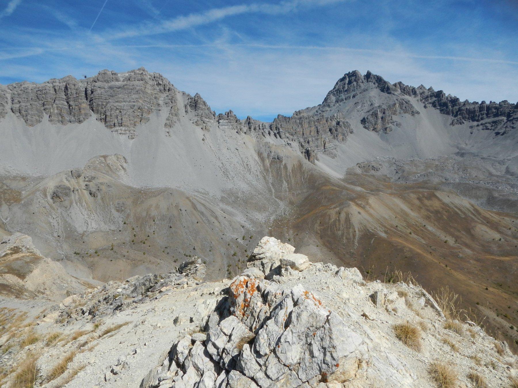 dal Sommet du Tronchet: gran vista sul Pic de Rochebrune