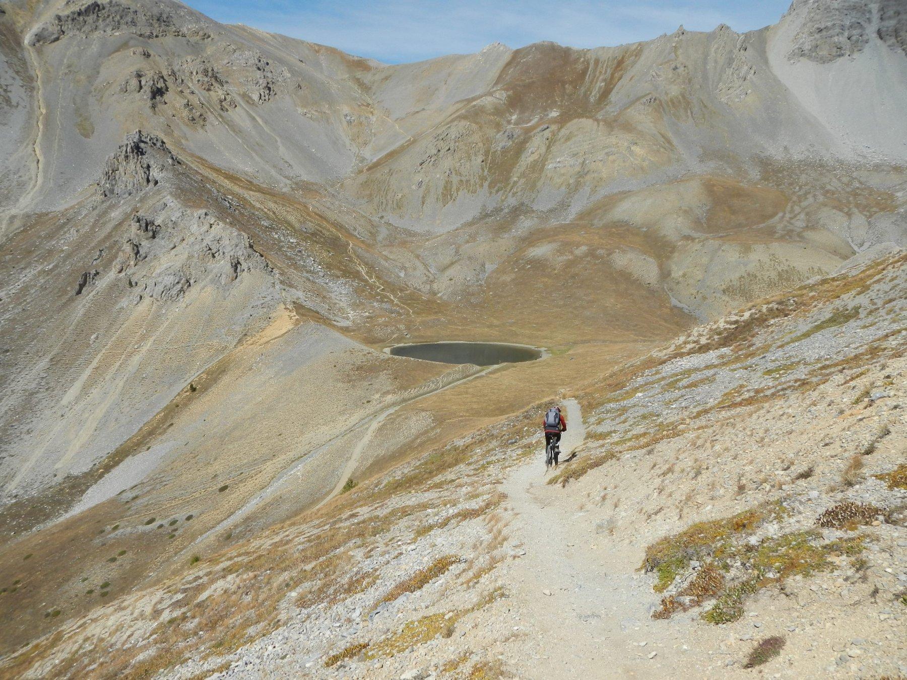 discesa dalla Crete de Tronchet verso il Lago di Souliers