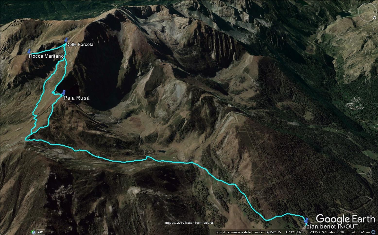traccia gps in google earth