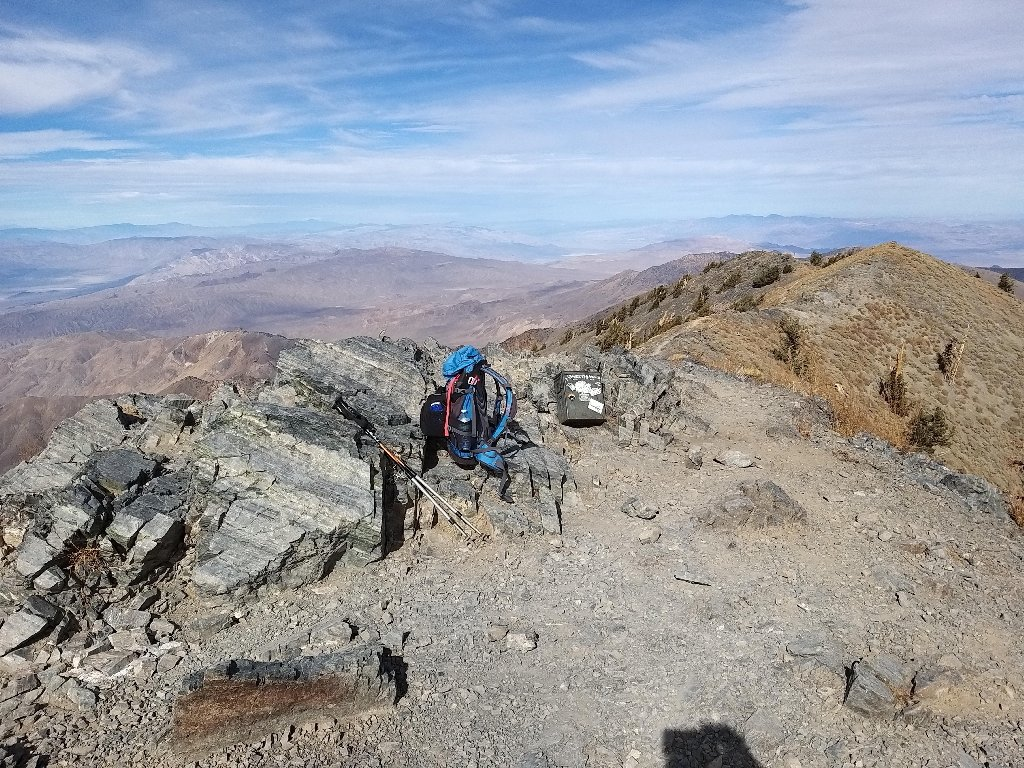 Telescope Peak from Thorndike Campground 2019-11-14