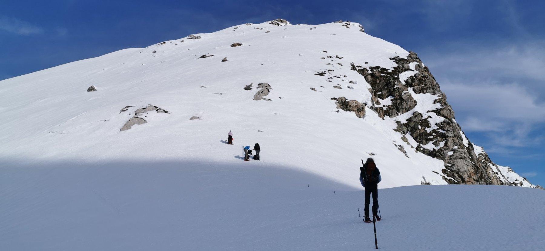 la cresta Sud del Monte Grosso vista dalla Colla Bassa