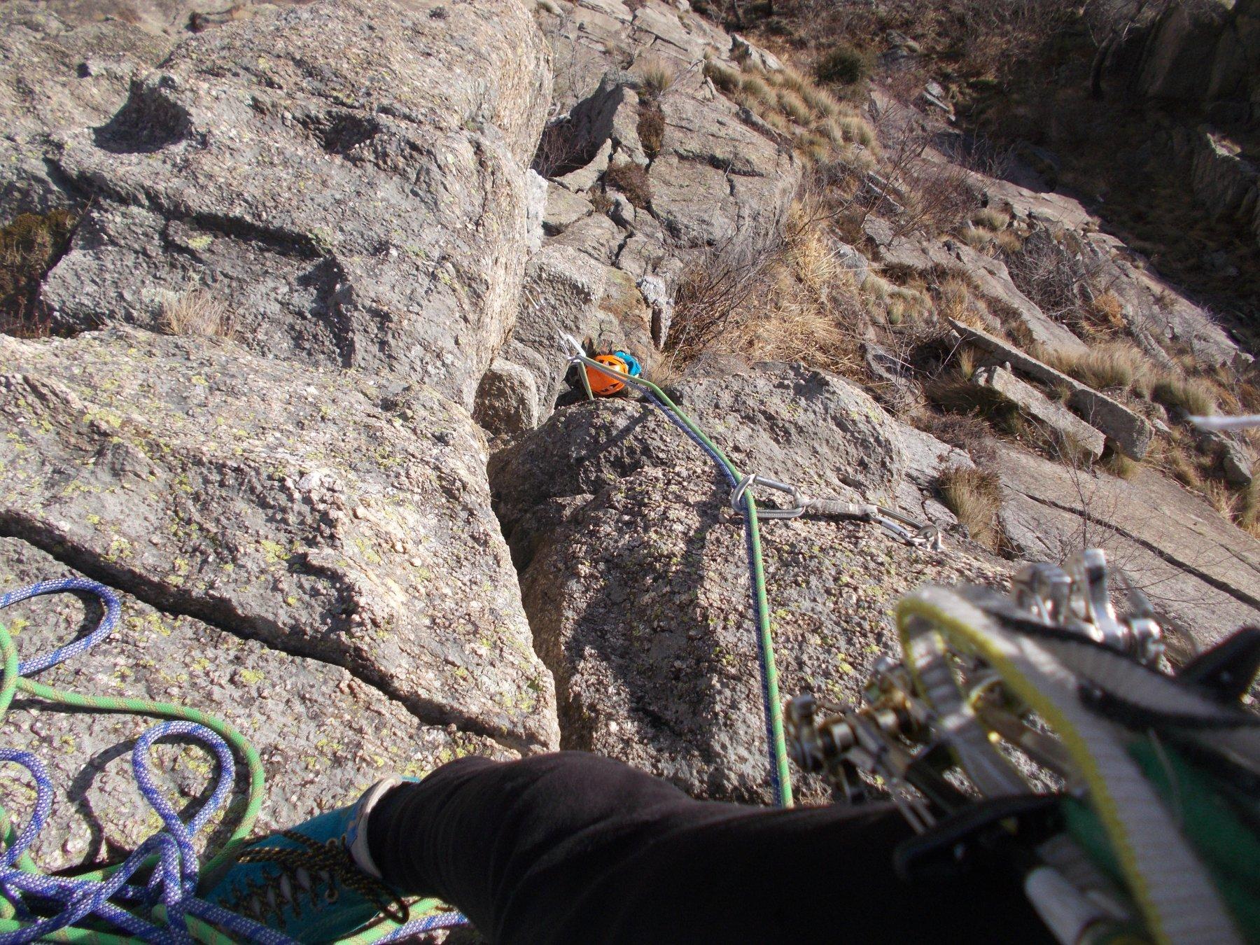 su pout pourri..dove l'arrampicata diventa fisica..