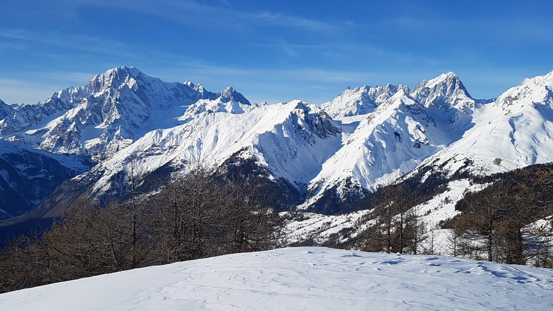 massiccio del Monte Bianco dalla cima