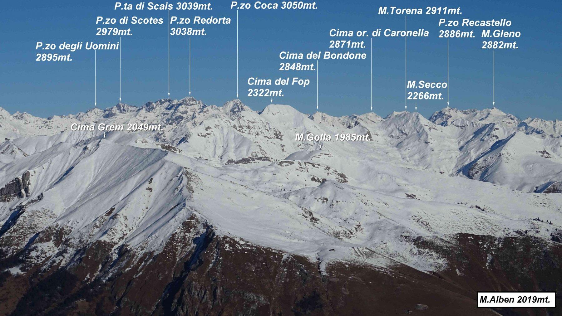 Panorama dalla vetta del M.Alben.