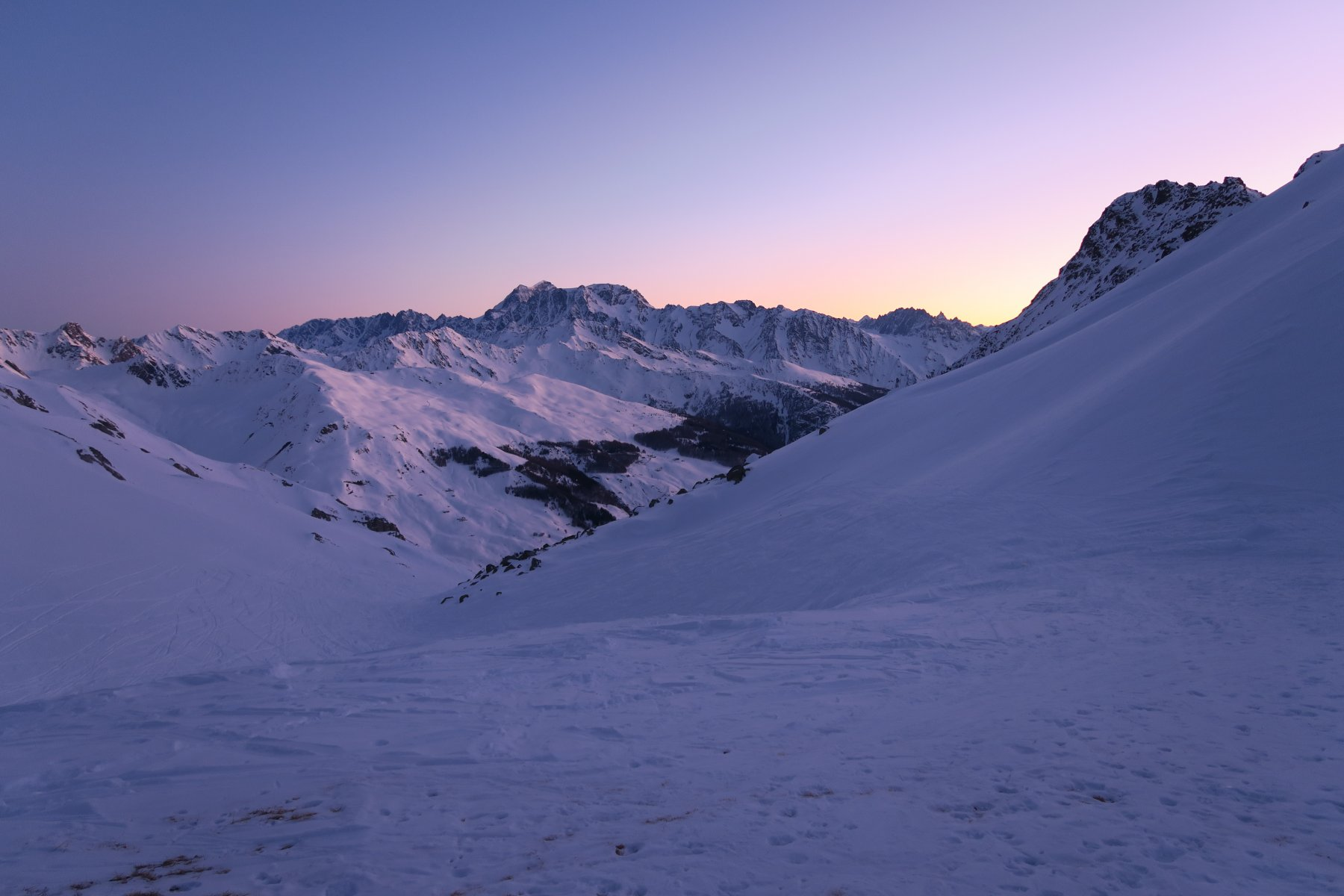 l'alba al Col Serena
