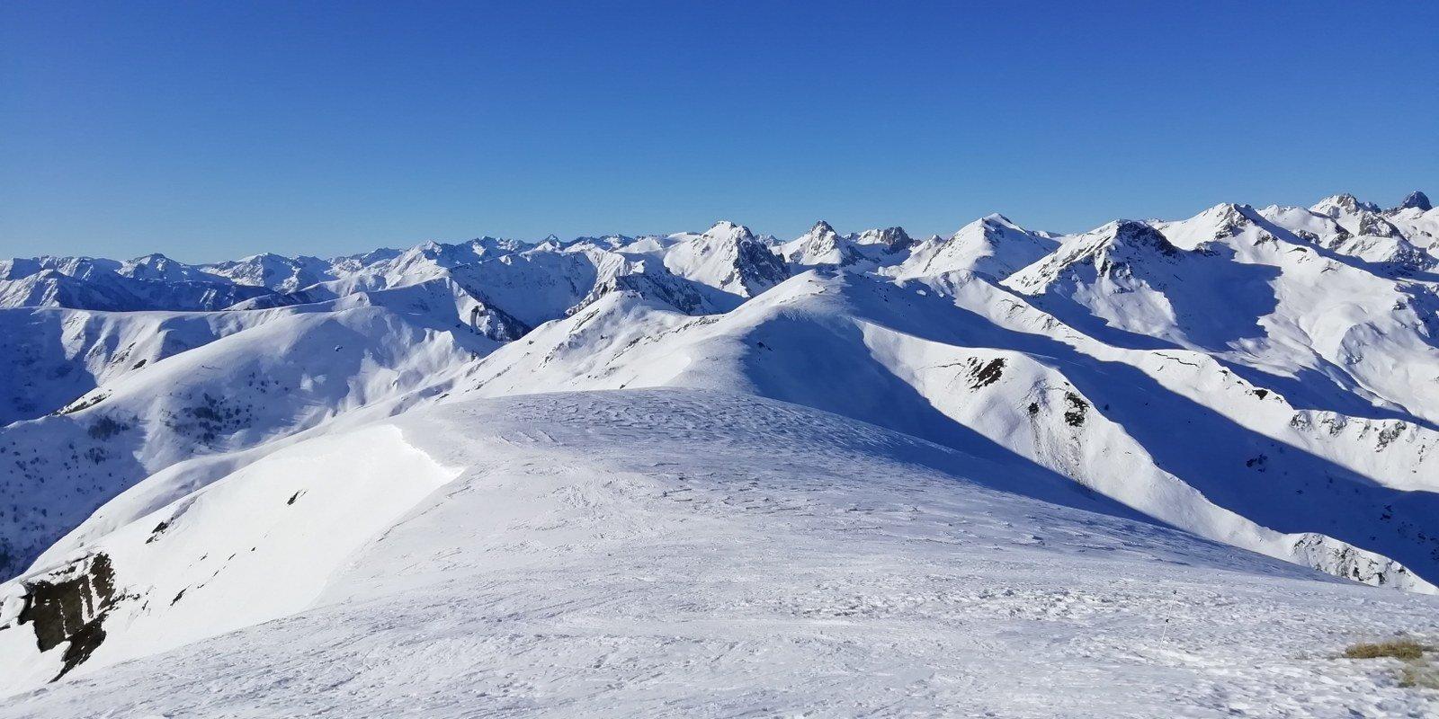 Panorama dalla cima dell'Omo