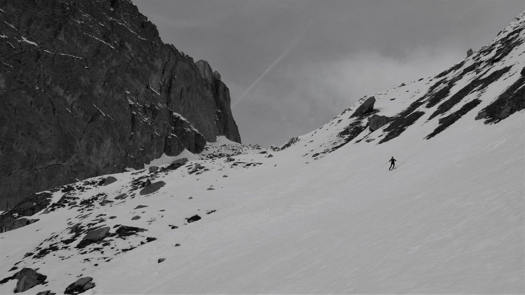 da qui si inizia a sciare discretamente