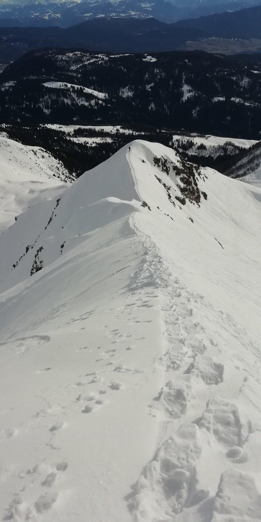 Alta (Vedetta) dal Passo Castrin 2020-01-04