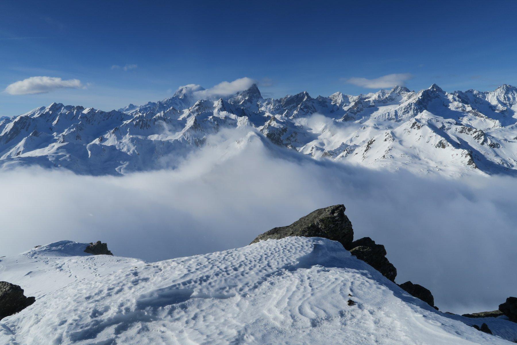 vista verso Monte Bianco