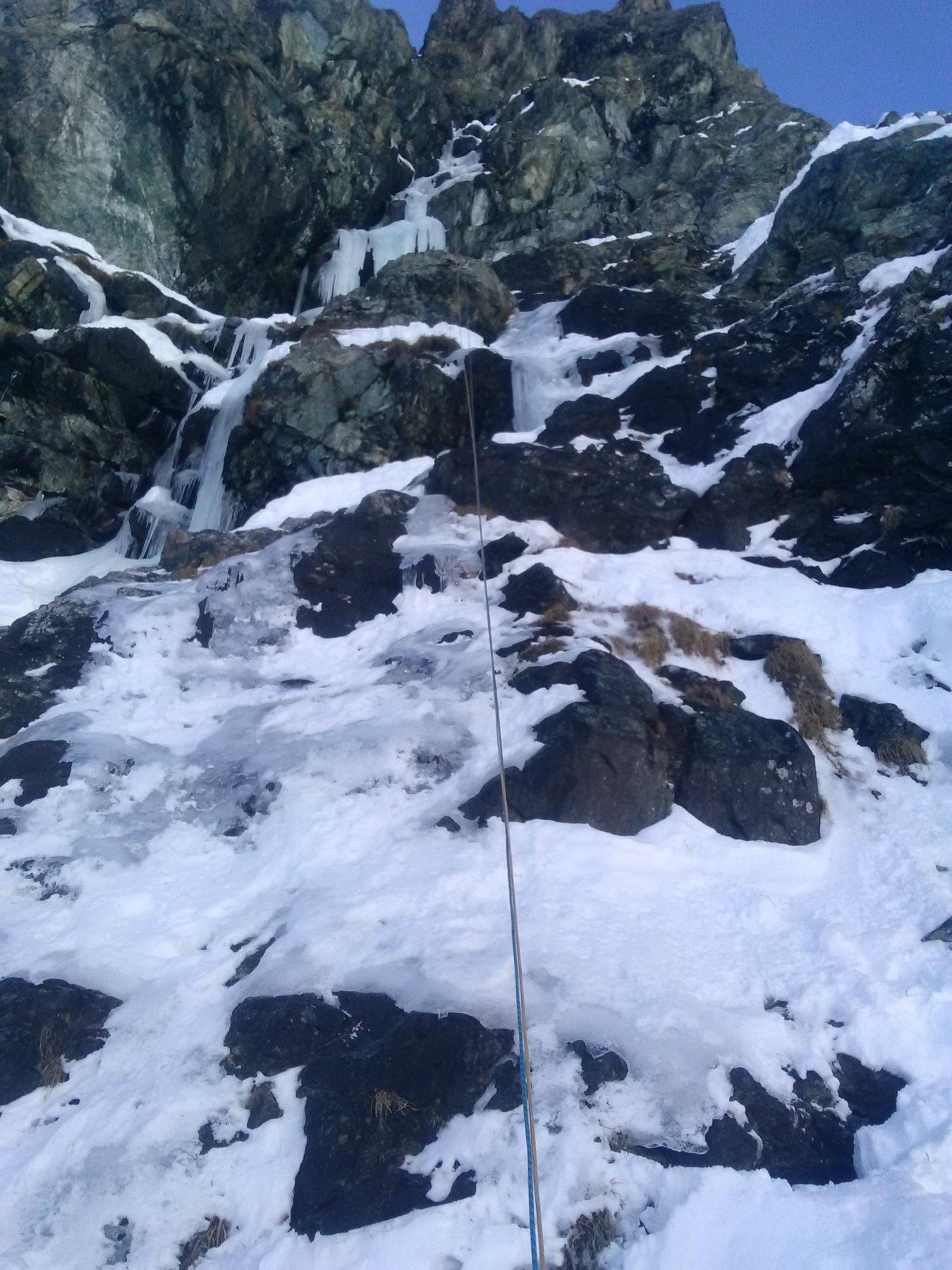 calata in doppia dalla cascata