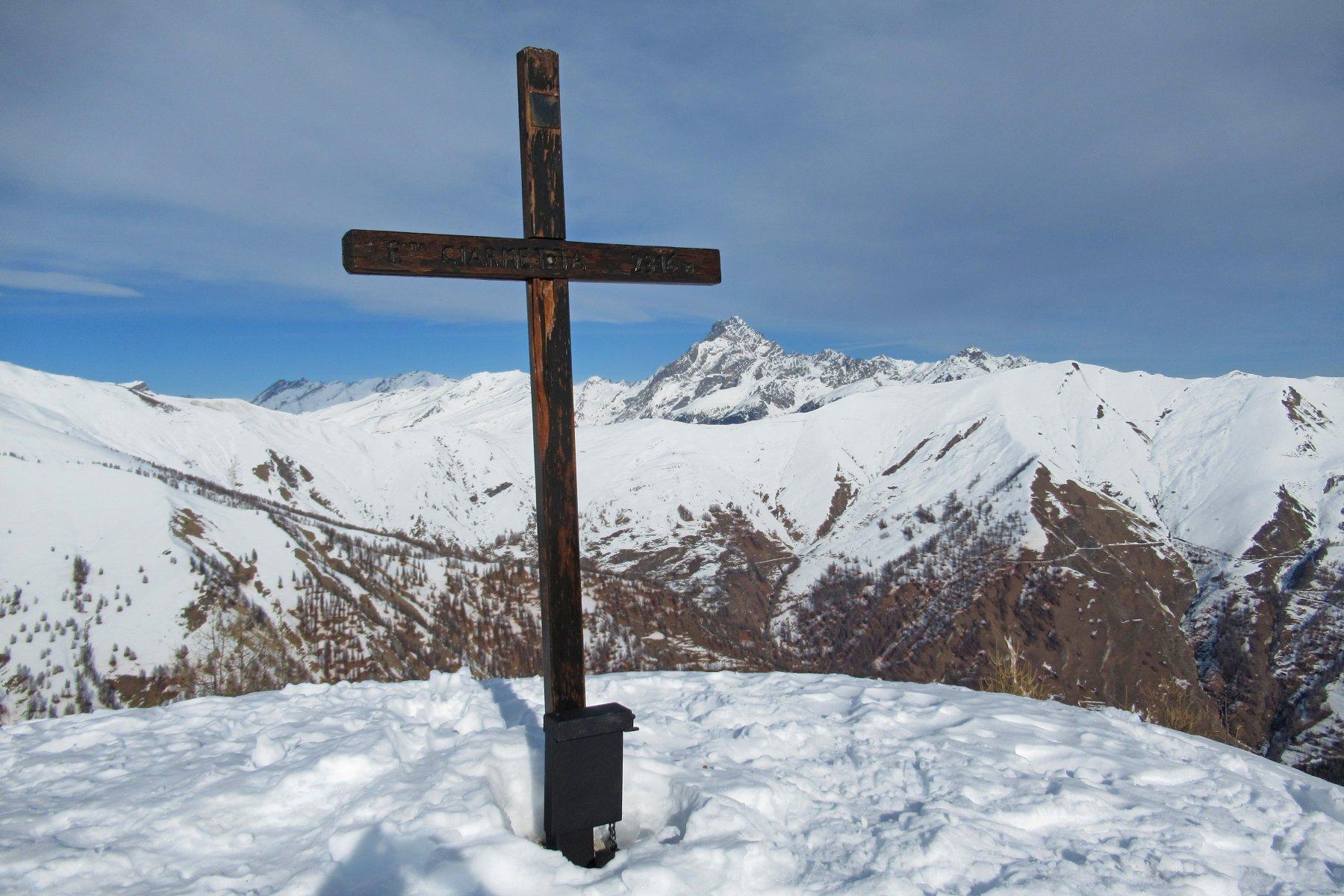 Croce Ciarmetta e Monviso