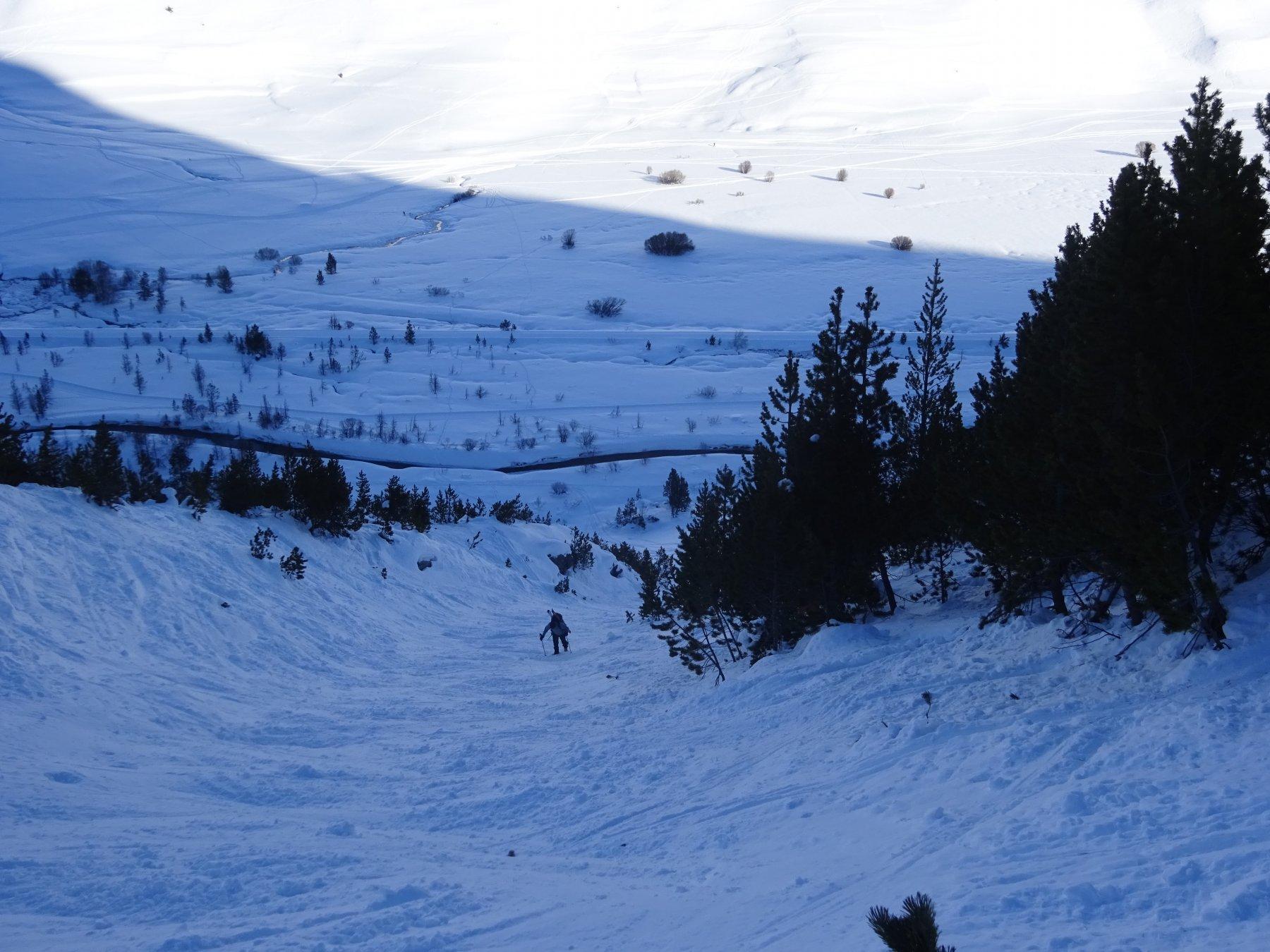 risalendo la parte bassa della Combe du Lasseron