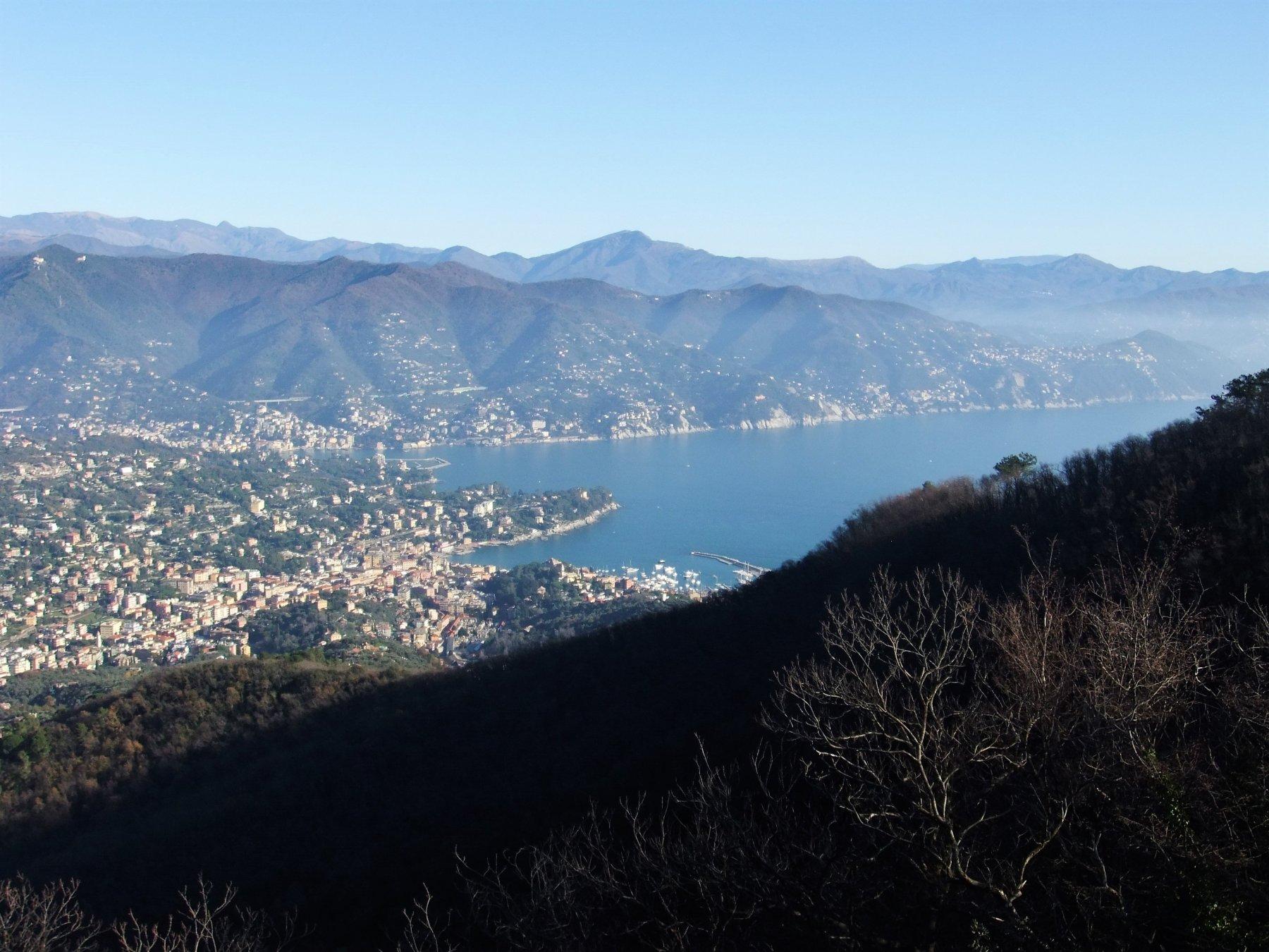 Rapallo e Santa Margherita dal Monte delle Bocche