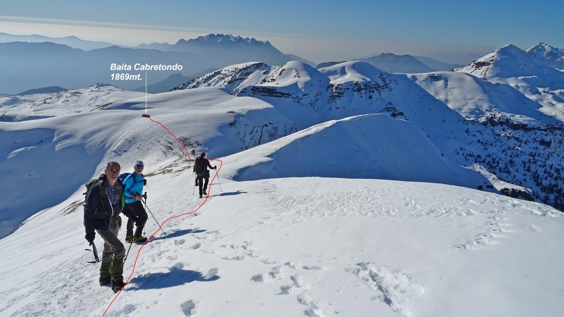 Sodadura (Monte), Pizzo Baciamorti, Monte Aralalta da Capo Foppa 2020-01-06
