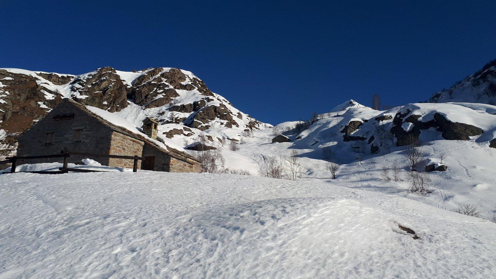 Arrivo all'Alpe Garitta