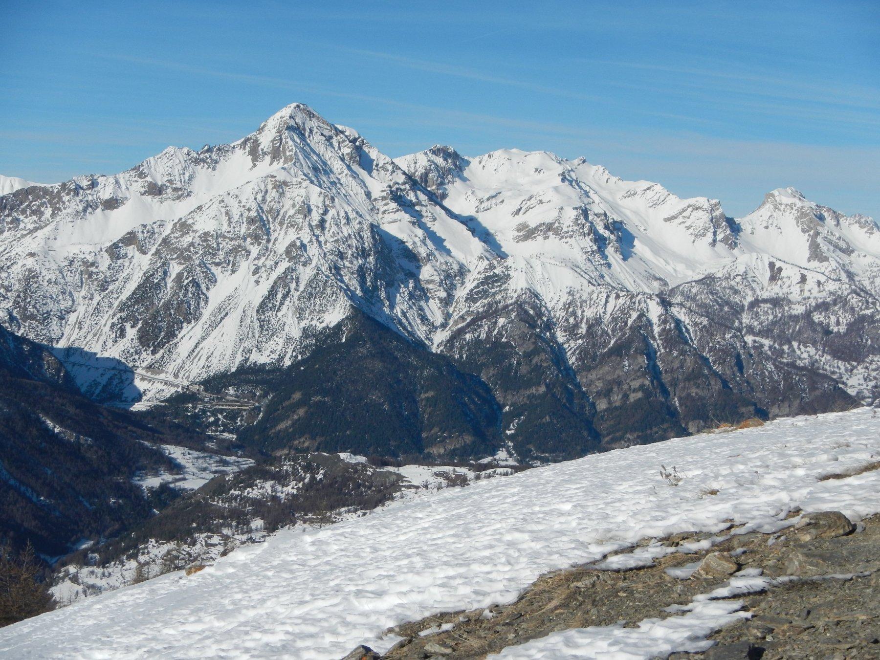 vista sul Monte Chaberton