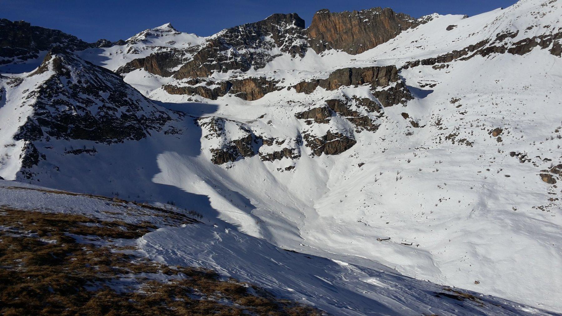 la cima innevata di Rocca la Marchisa