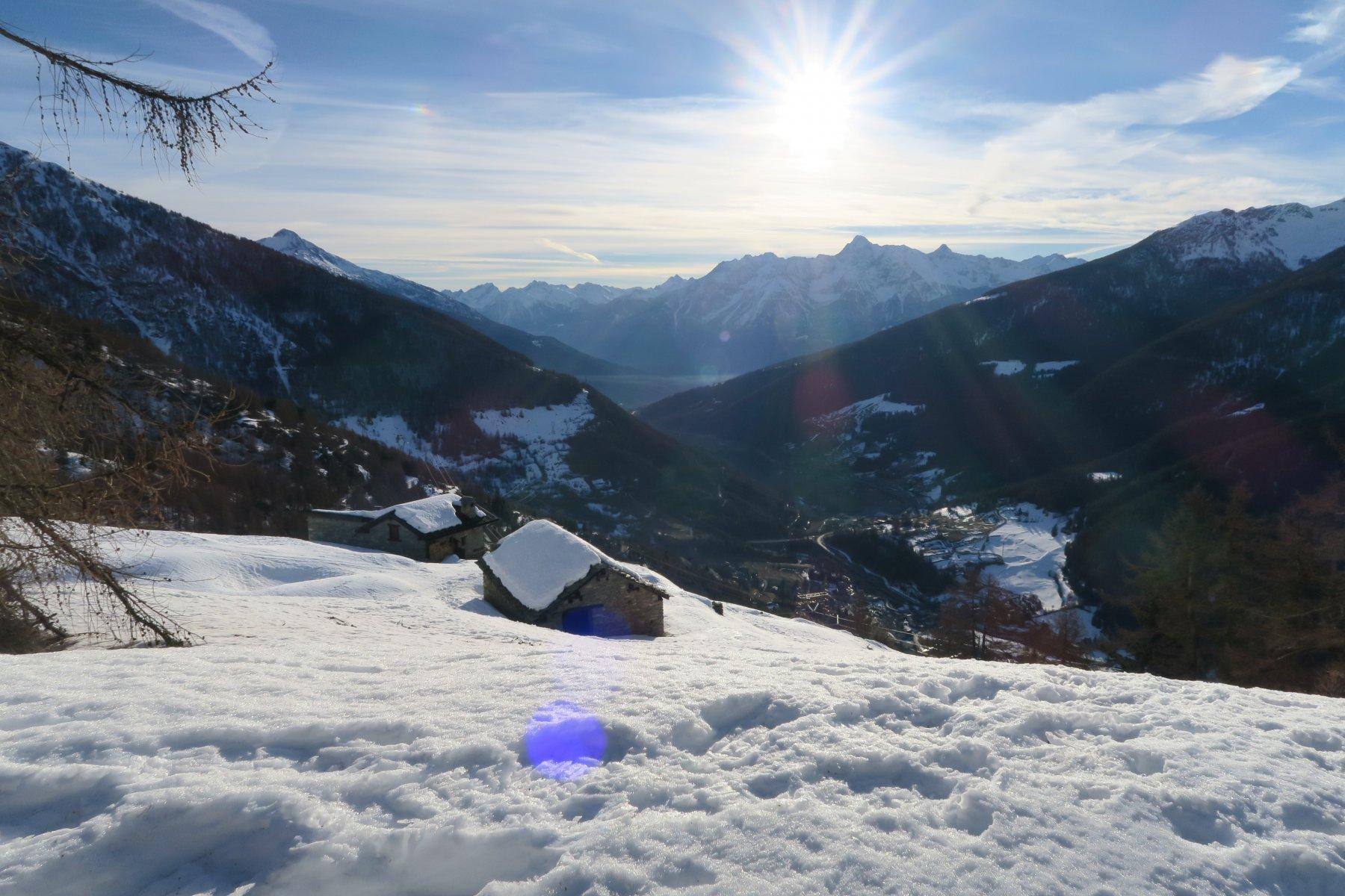 baite sopra Eternod, qui la  neve è quasi completamente trasformata