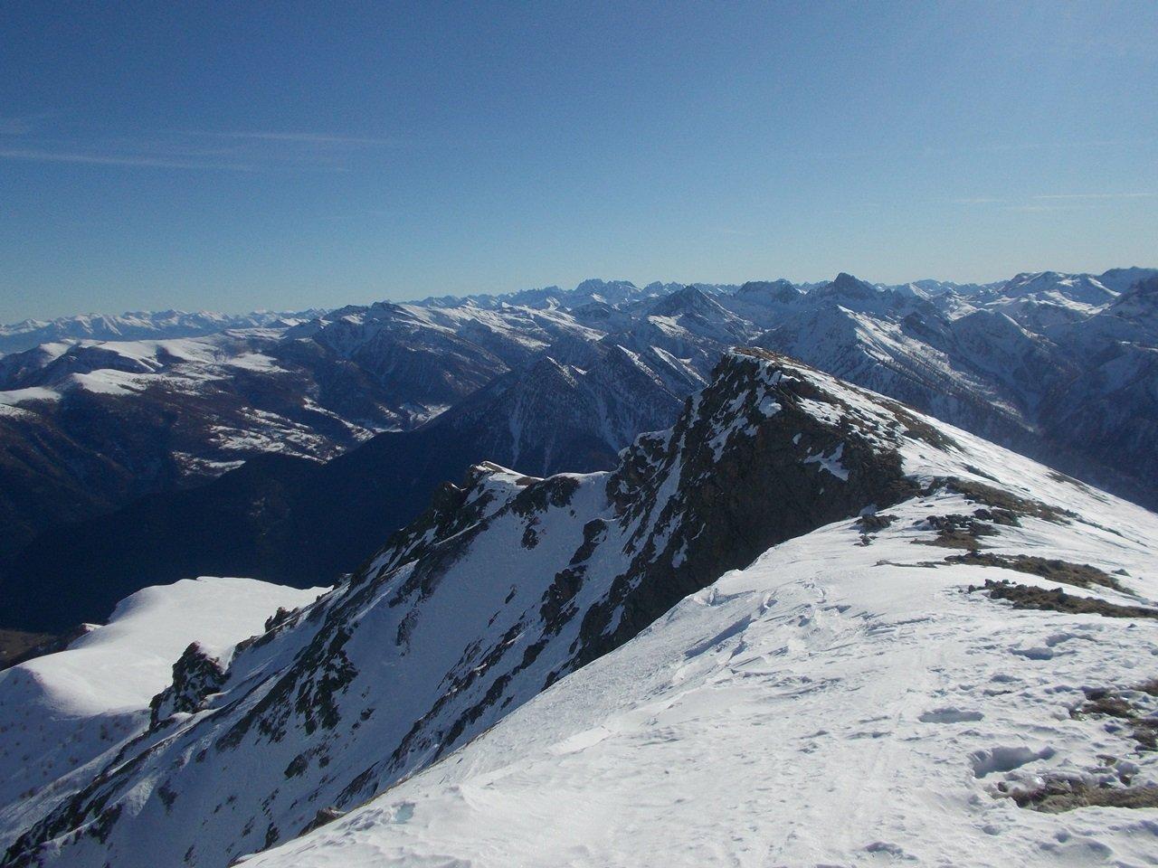 Vista dalla cima verso sud est