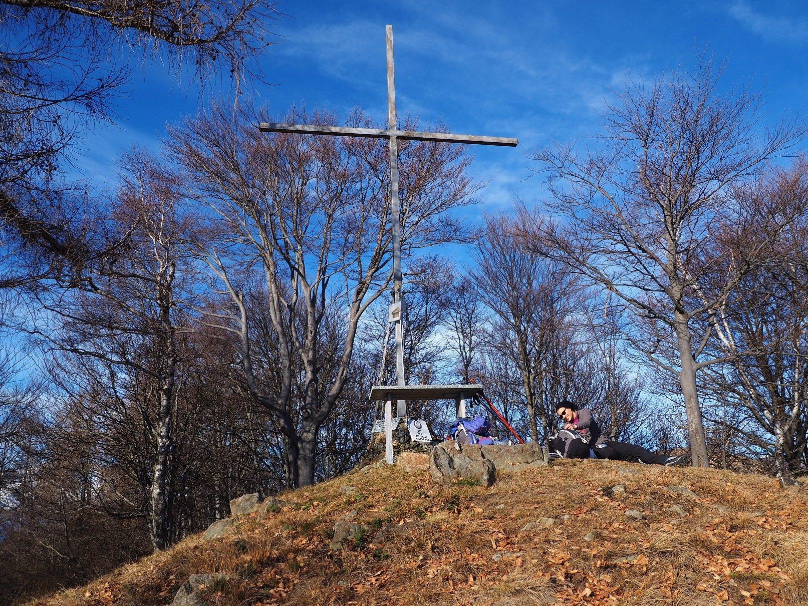 La croce di vetta del M.te Piogera.