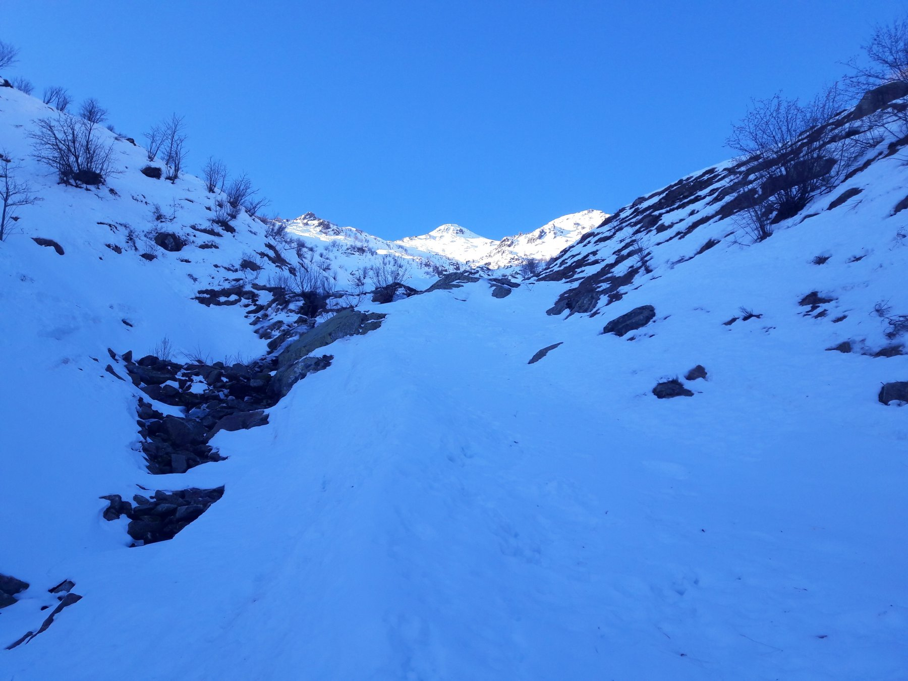 Bisalta o Besimauda (Monte) Canalone nord-est 2020-01-11