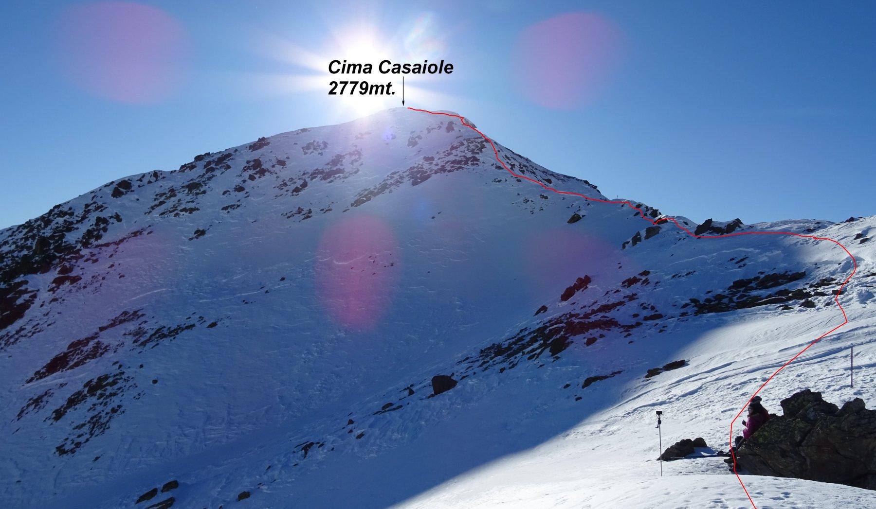 La Cima Casaiole vista dal P.so dei Contrabbandieri 2681mt.
