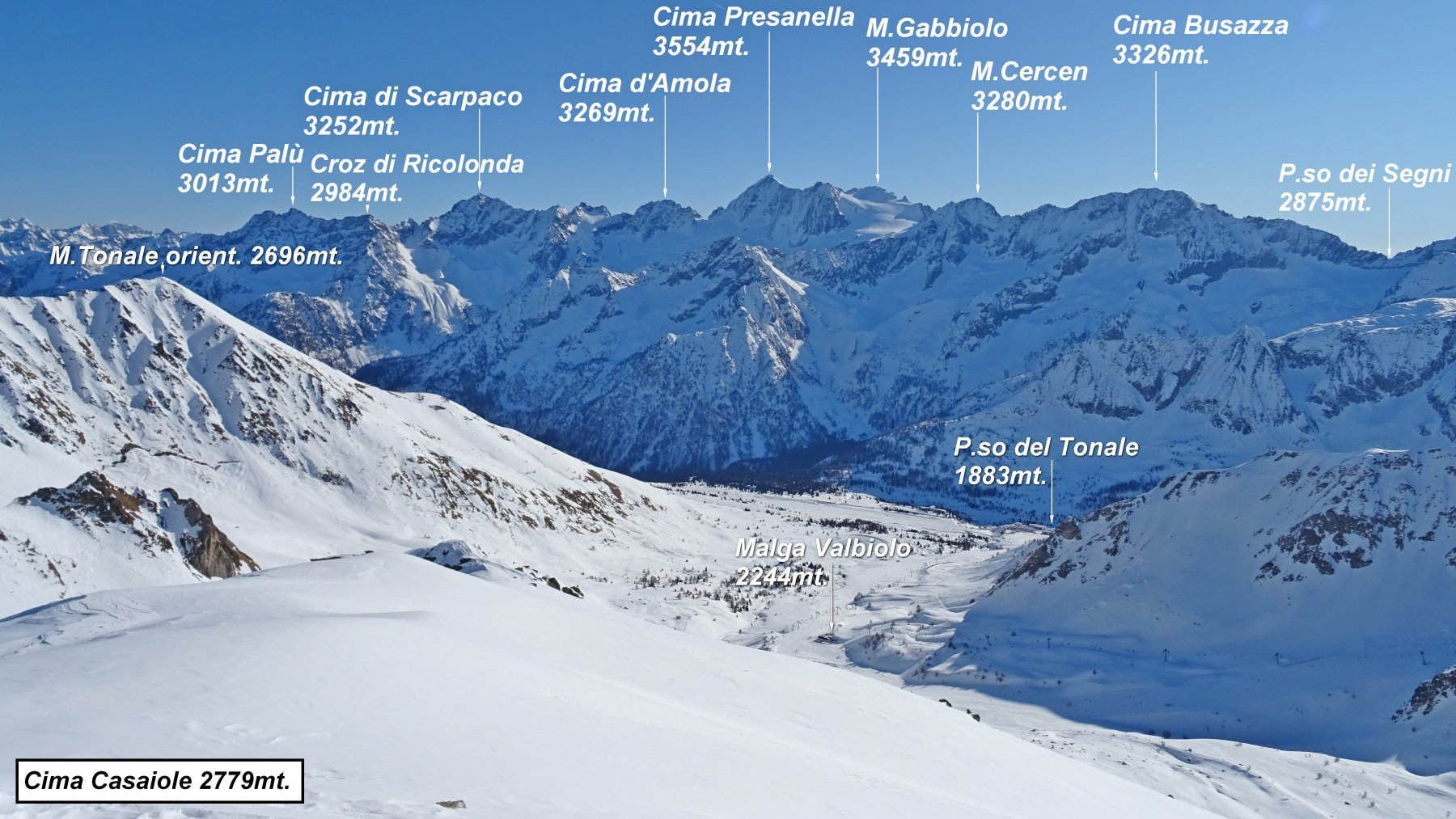 Panorama verso la Presanella.