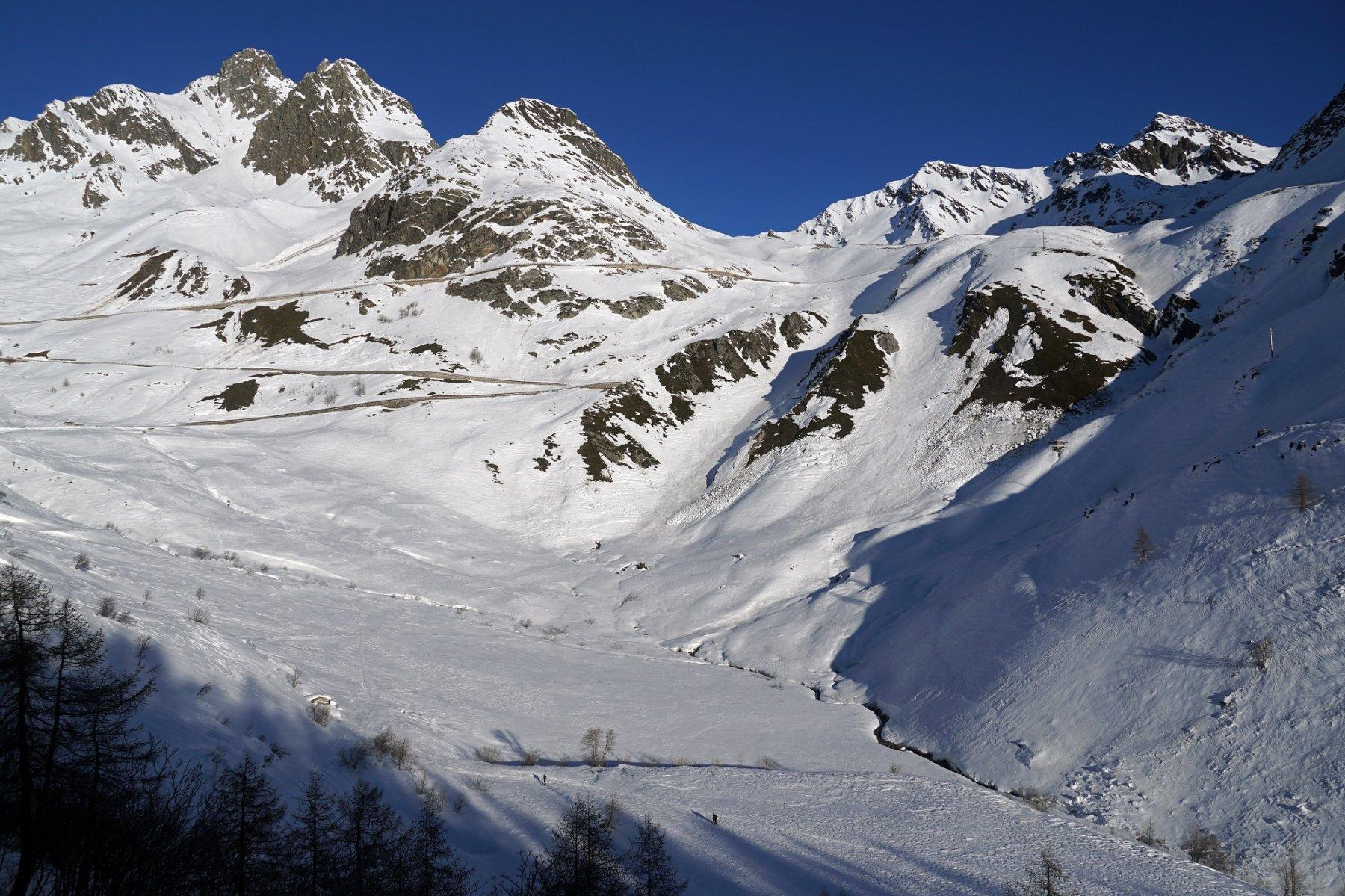 Panoramica della parte iniziale del percorso