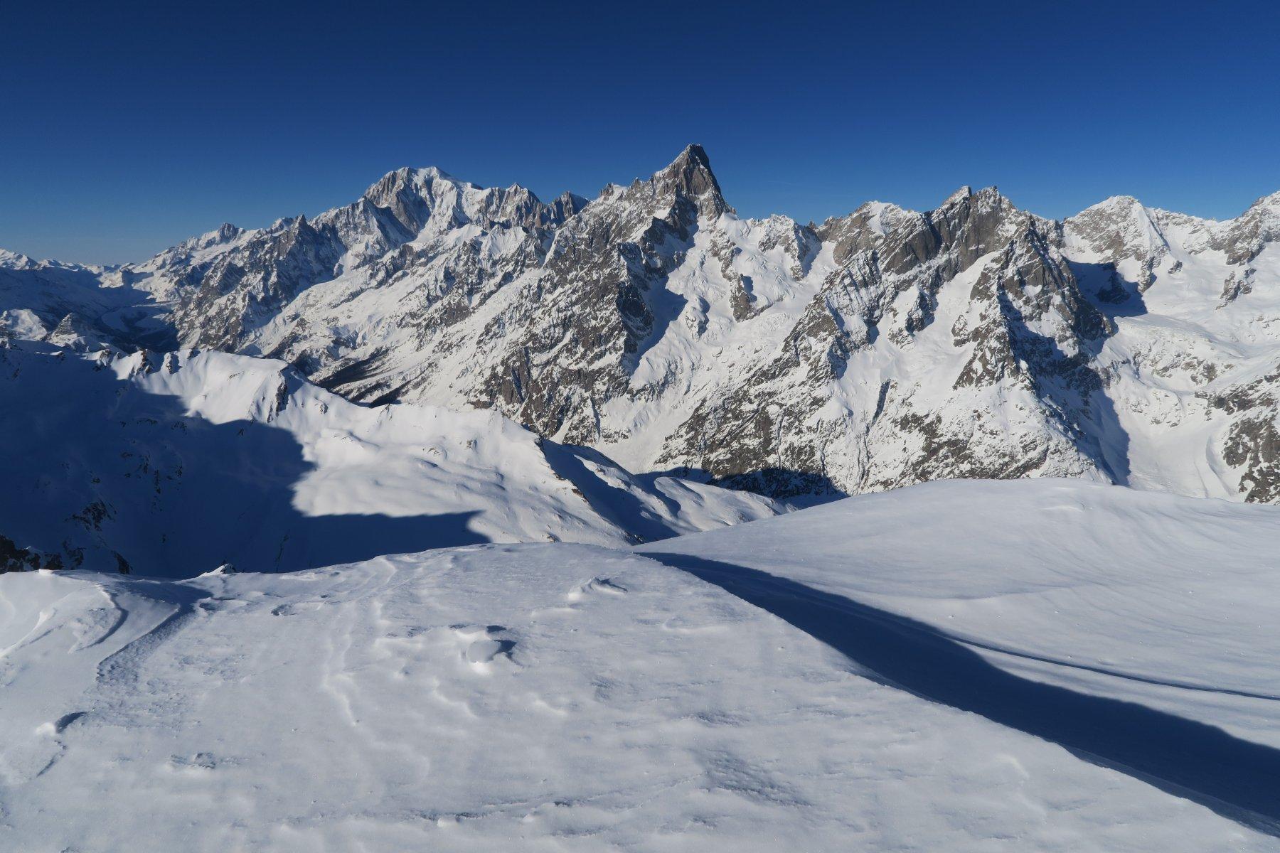 panorama verso il Bianco dal Colle