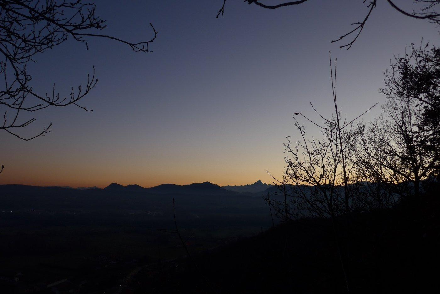 Tramonto sul Monviso