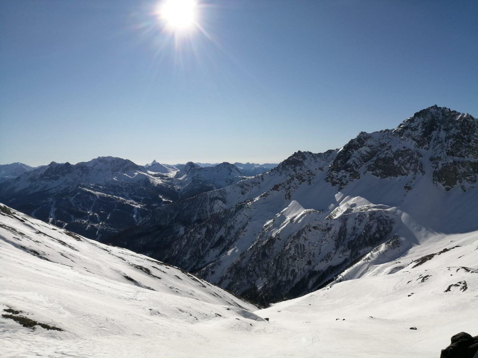 Prima parte della via Messner dall'alto