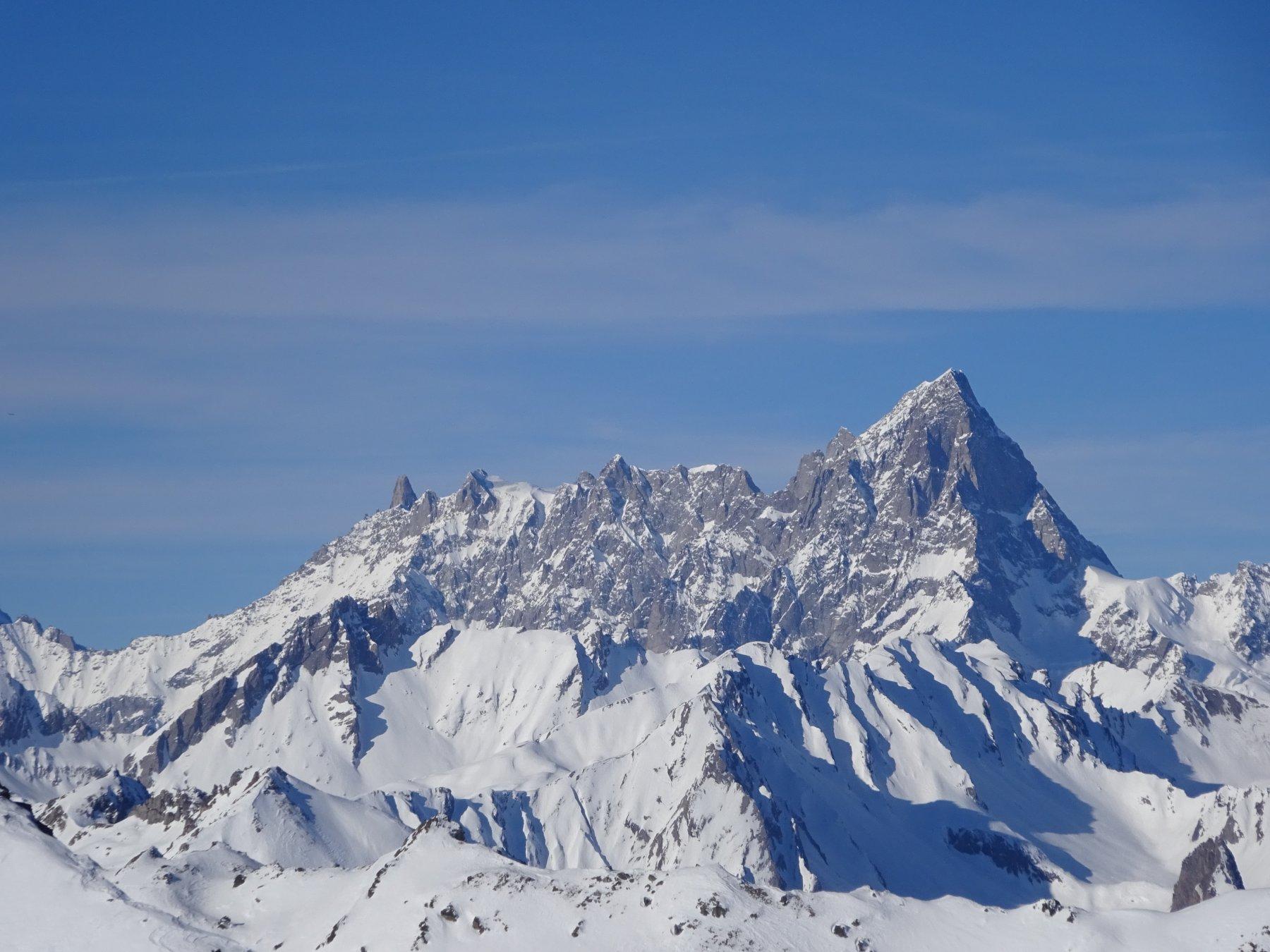 Grand Jorasses dalla cima del Mont de la Tsa