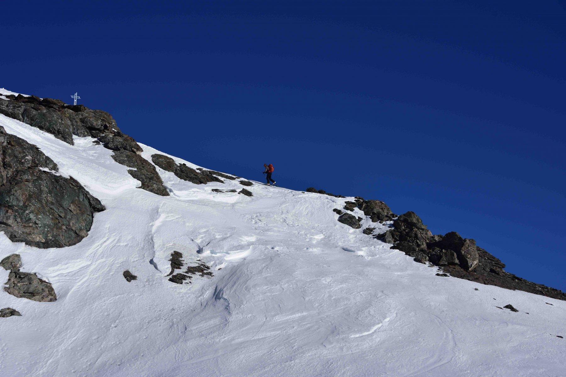 Ultimi passi verso la Punta dell'Alp