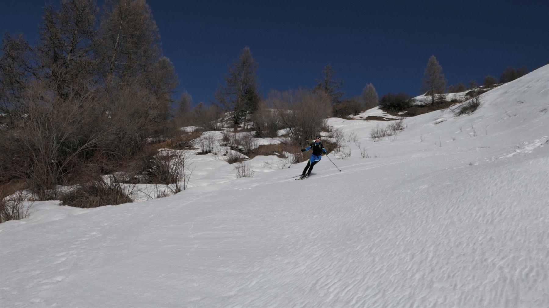 parte bassa su ottima neve