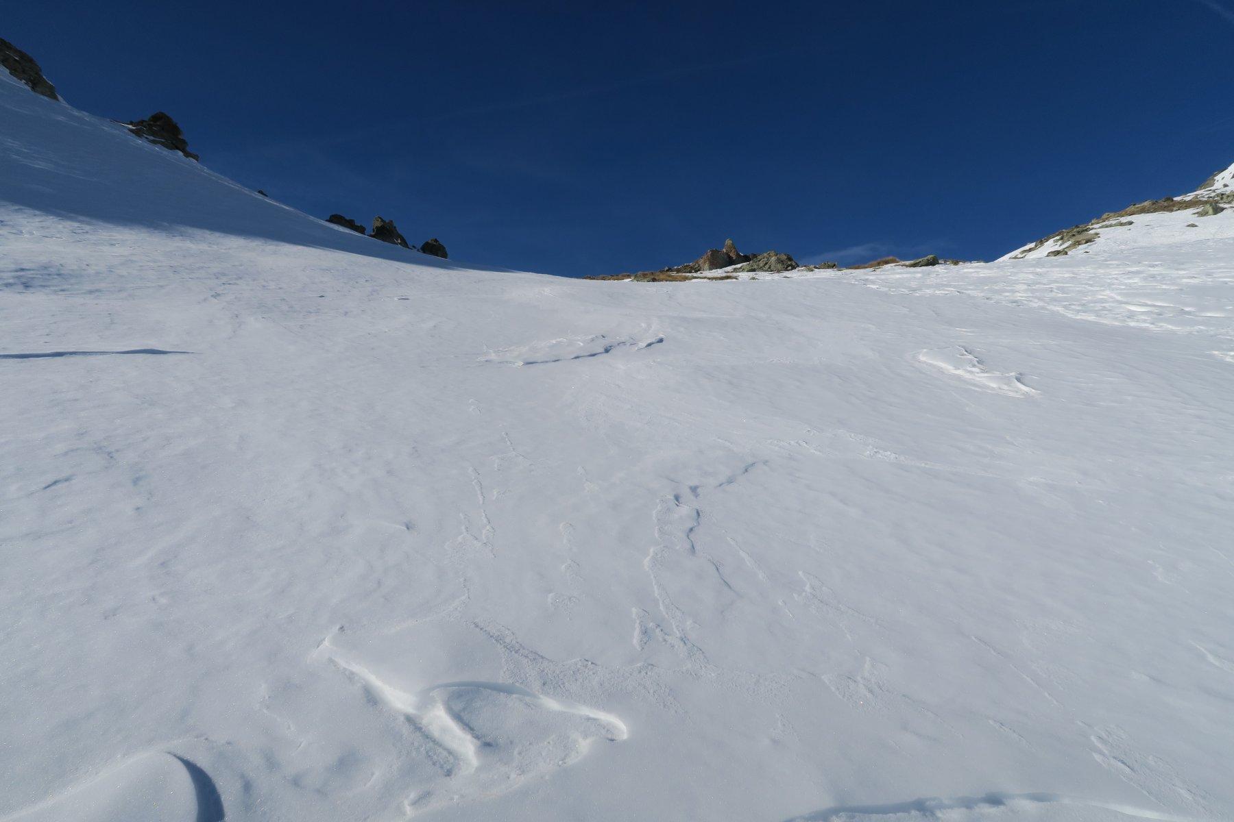 neve lisciata dal vento
