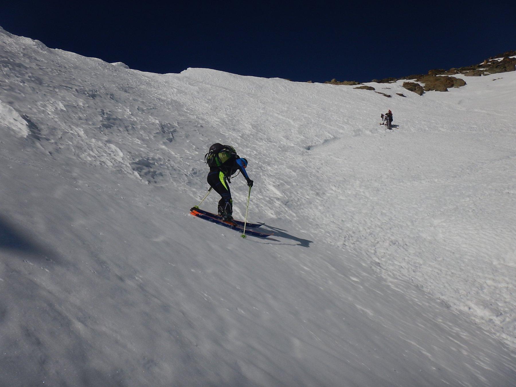 Rampa finale fatta con gli sci...ma solo dai più coraggiosi
