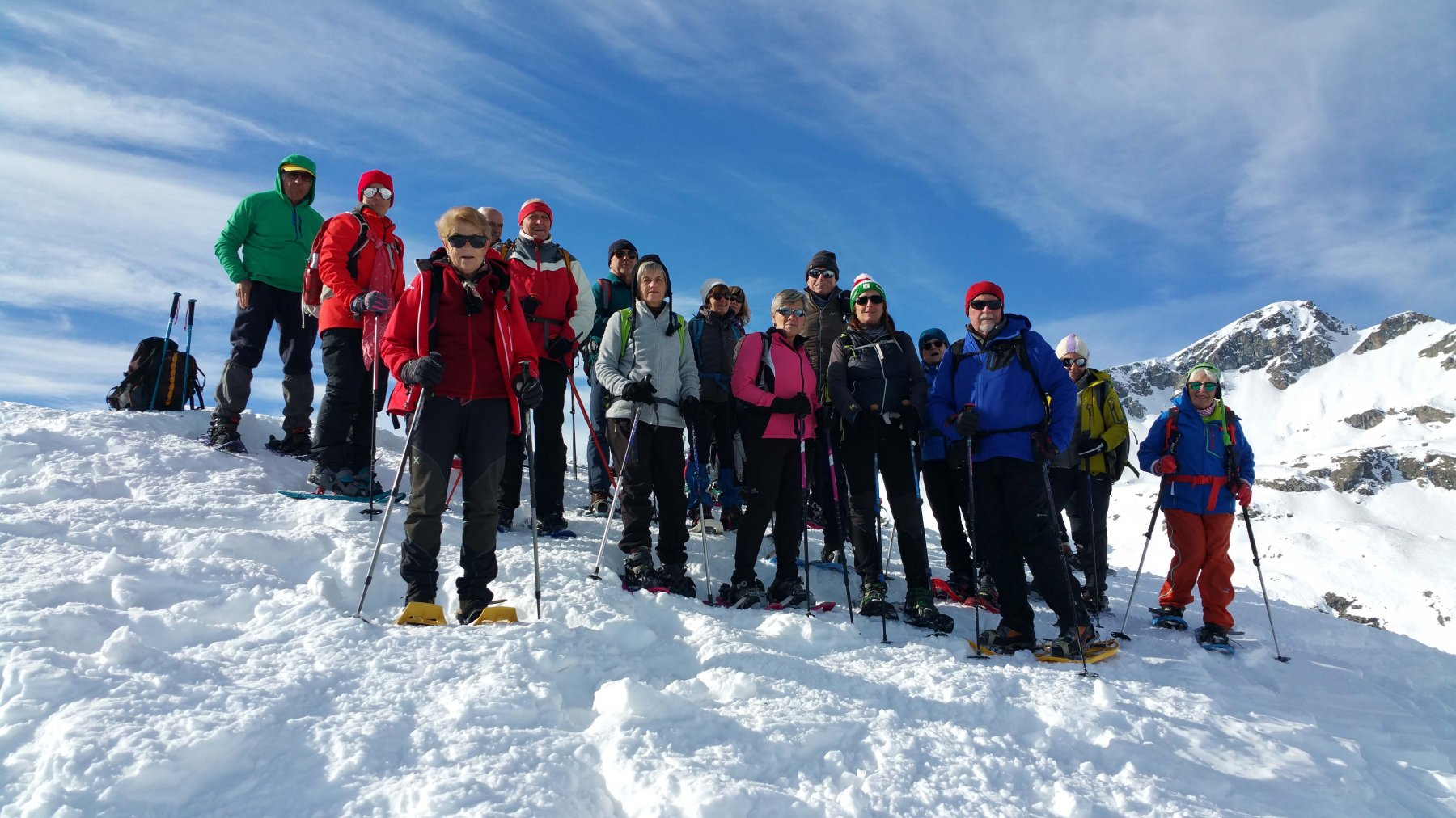 Gruppo SENIOR in vetta al Mont Ros