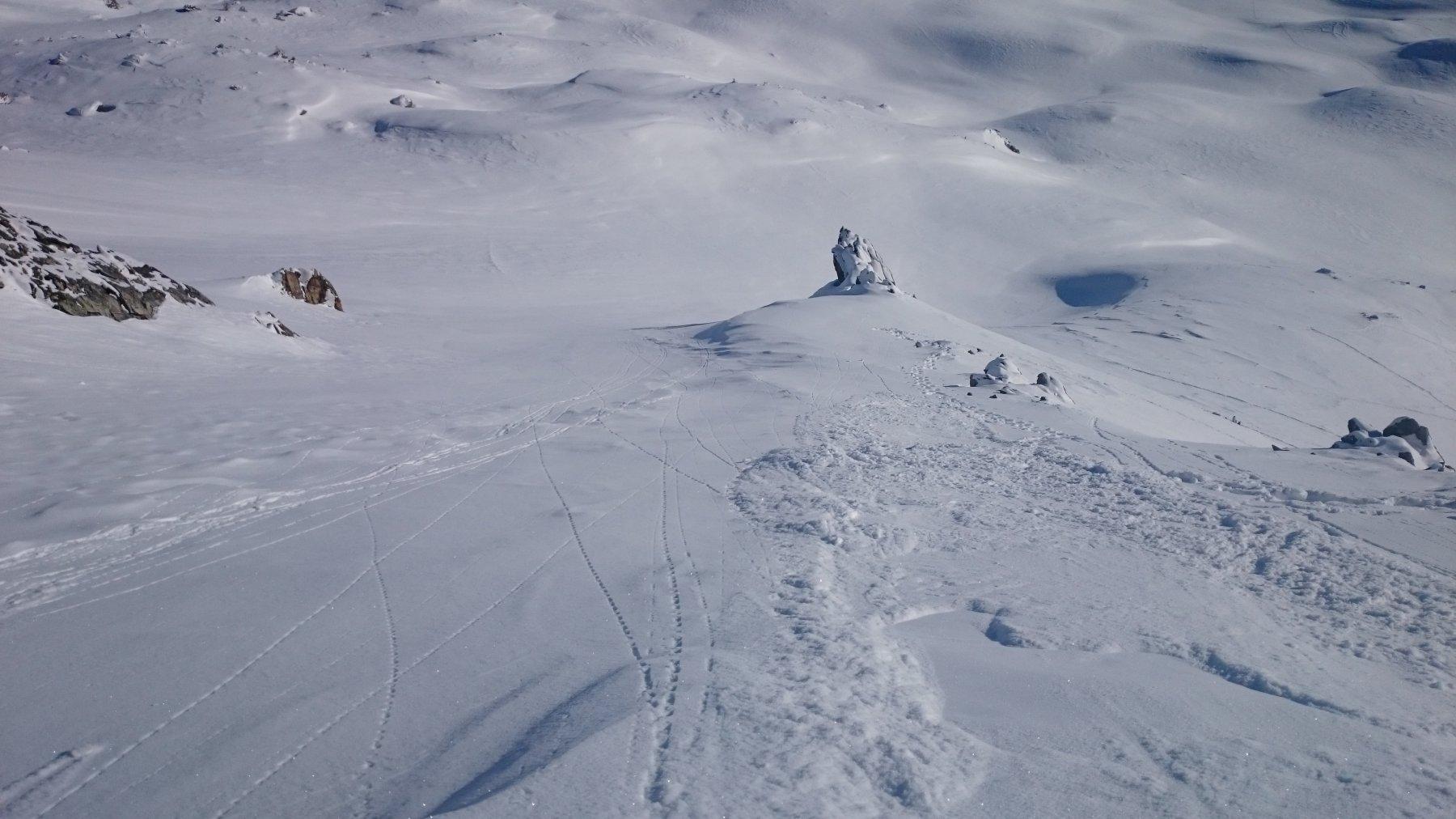Neve che scivola sul ripido