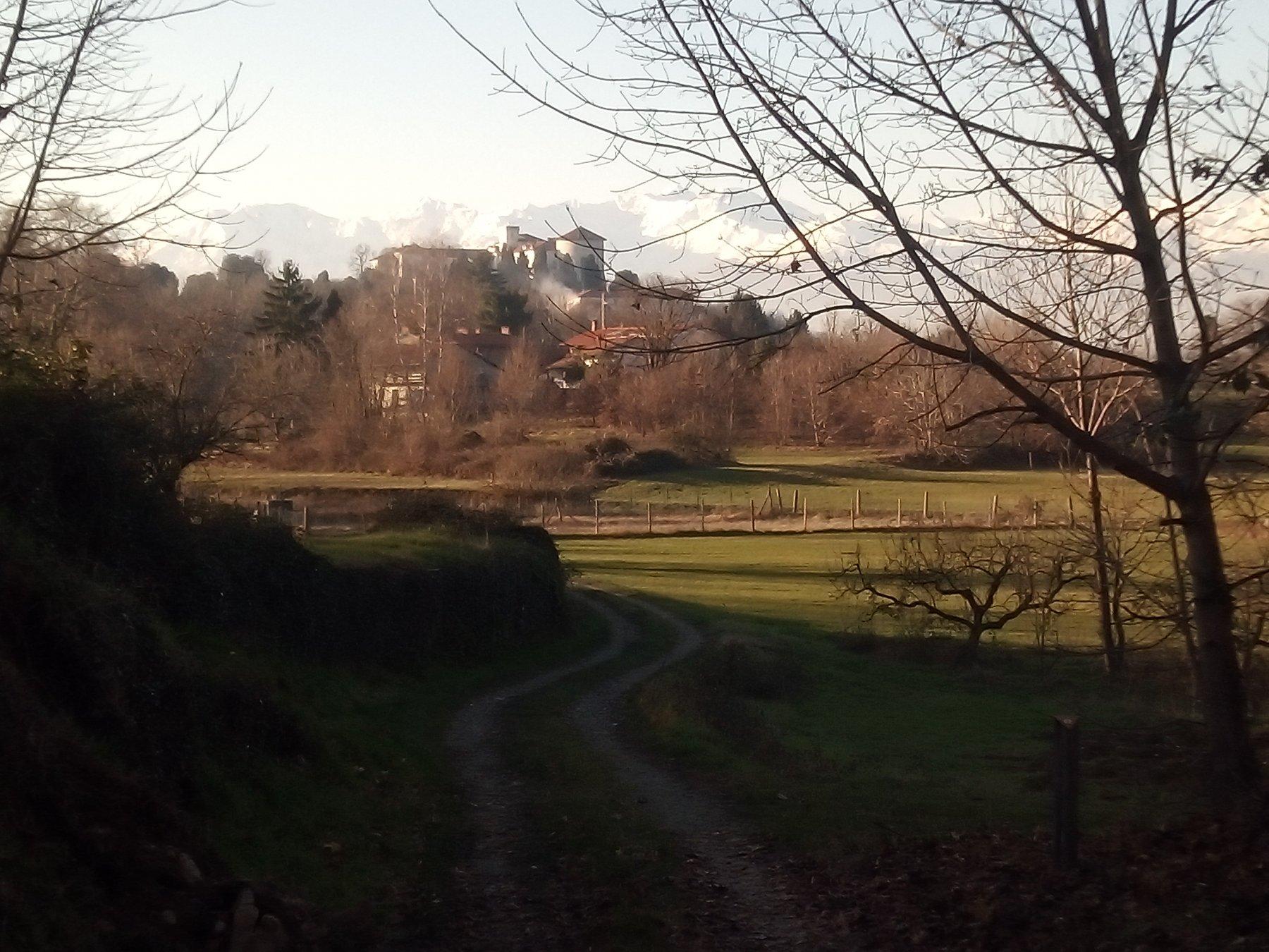 in vista del castello