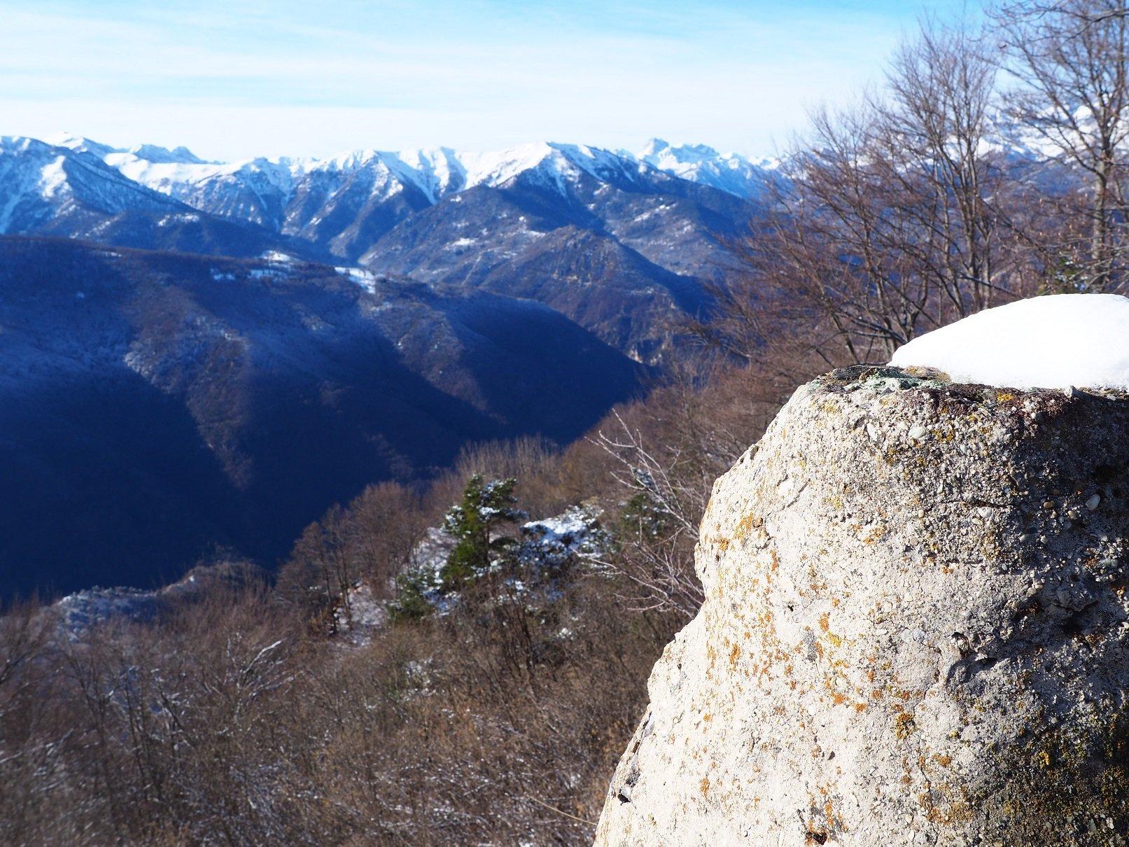 Panorama dall'ometto di quota 1.590.