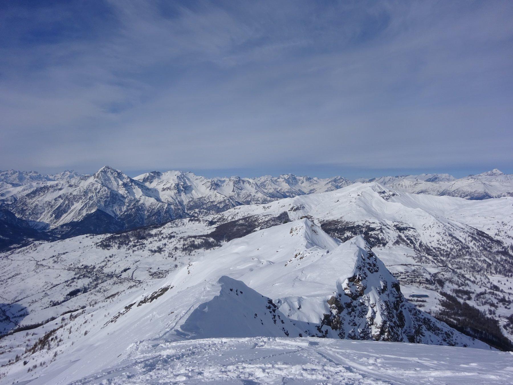 Vista su Sestriere dalla cima del Querellet