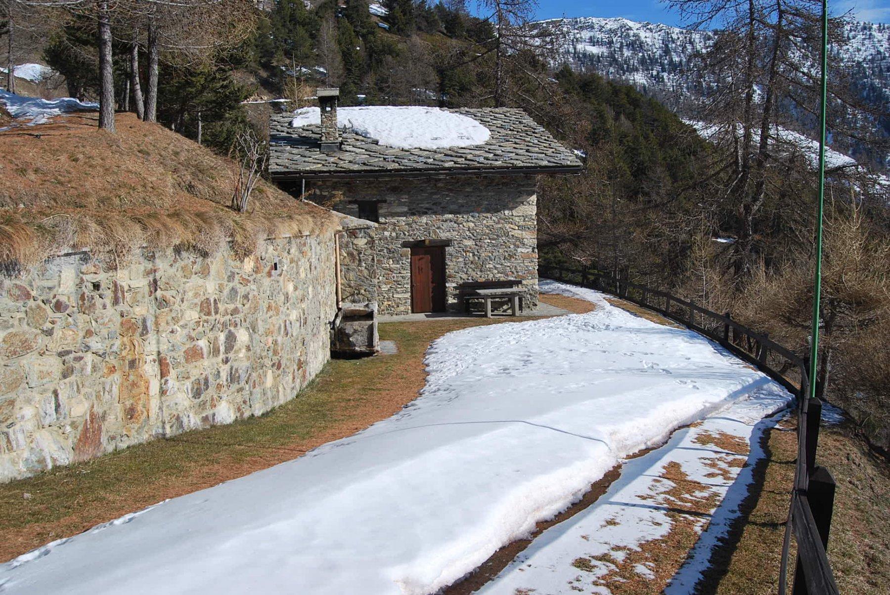 L'Alpeggio di Preilles, in privilegiata esposizione