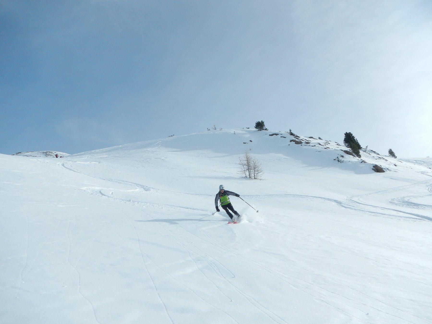 venti cm di neve fresca su fondo consolidato