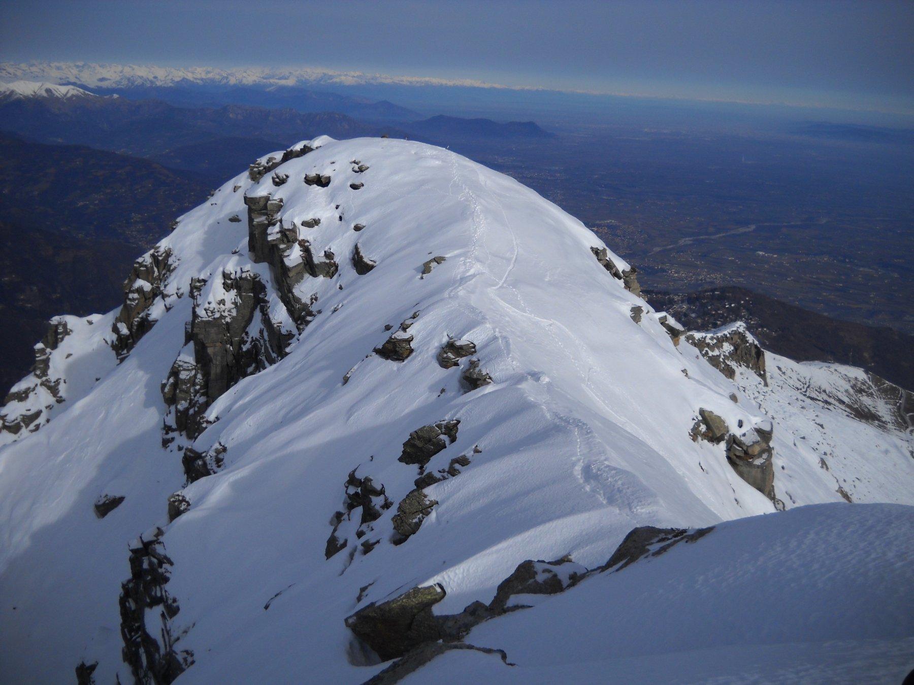 ultimo tratto di cresta verso punta Ostanetta