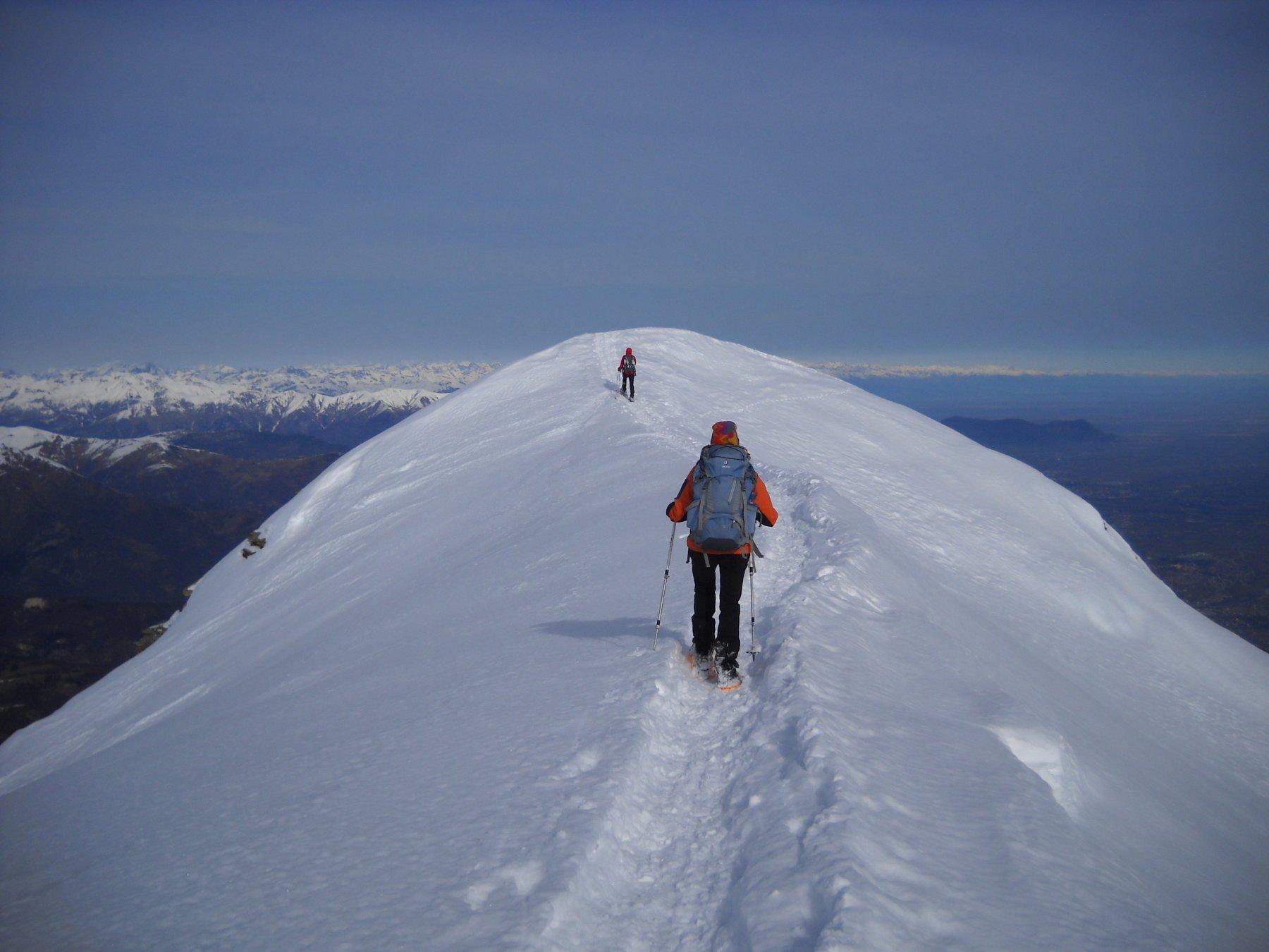 la cresta verso punta Ostanetta