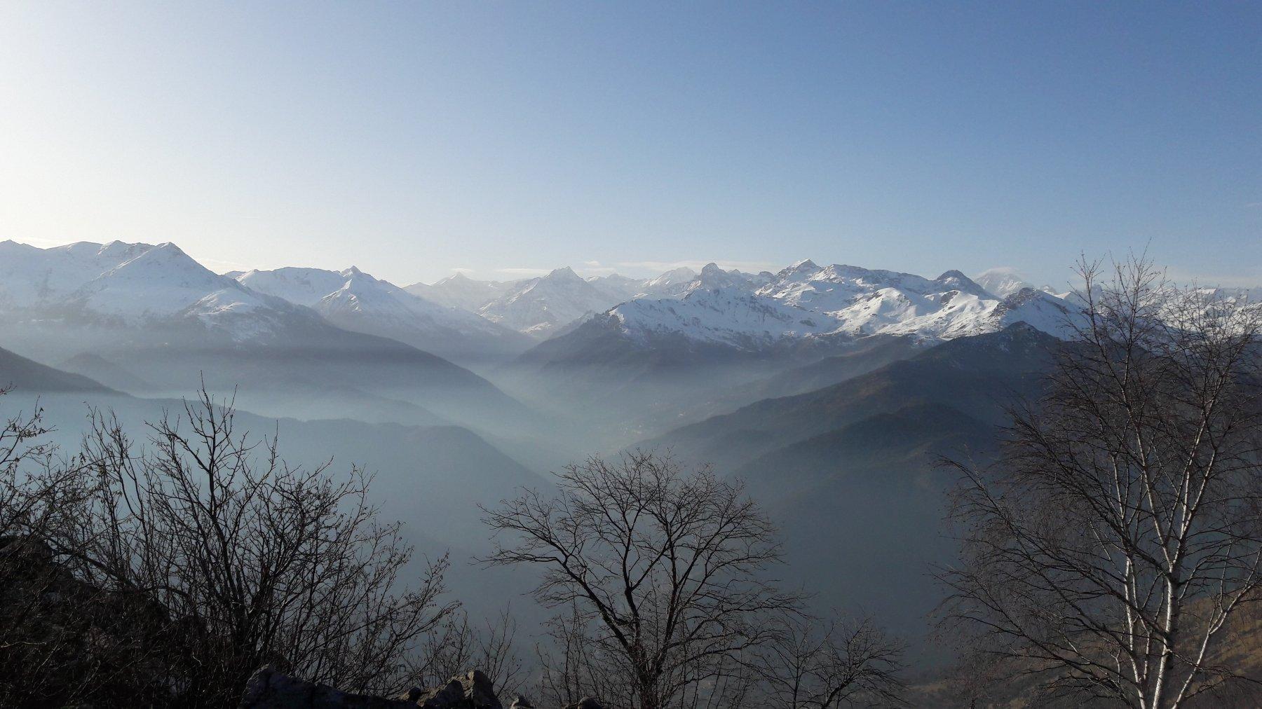Panorama dalla cima sulla Val di Viù