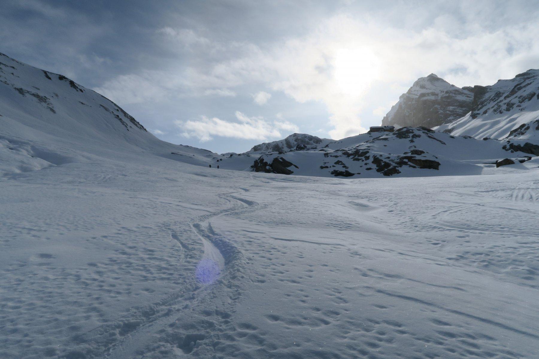 bella neve anche sotto il rifugio