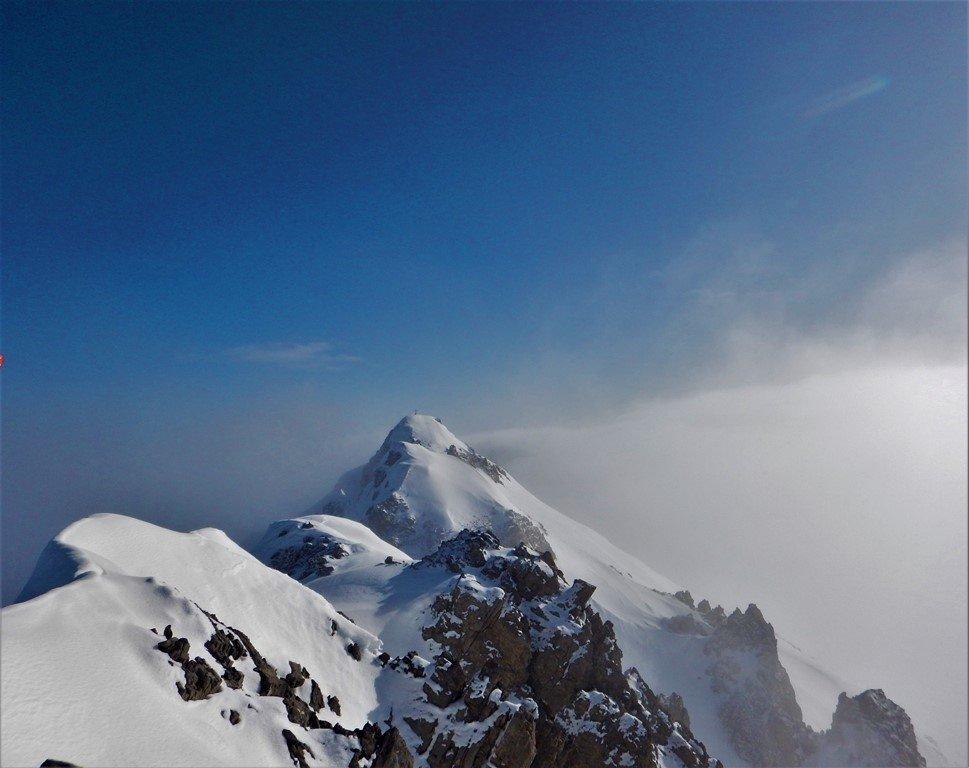 La cima del Vanclava dalla quota raggiunta