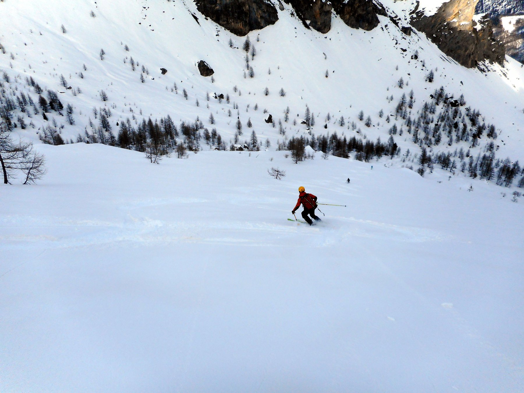 qui neve più impegnativa da sciare per fondo un po cedevole