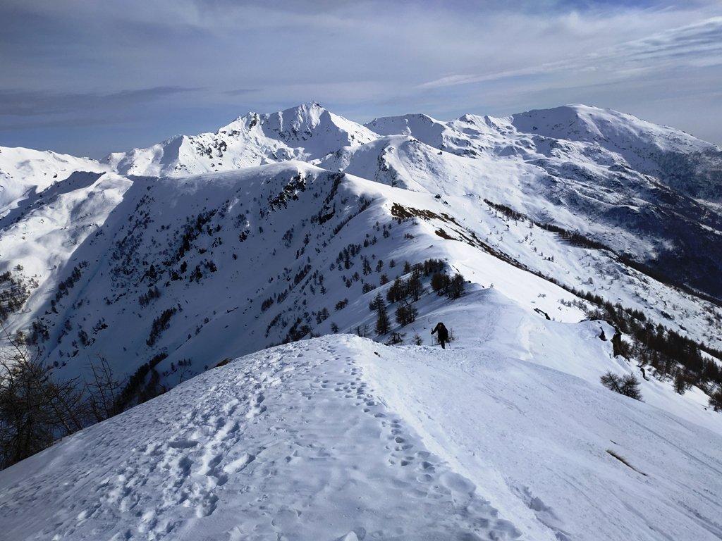 Cresta tra le 2 cime vista dalla Nona.